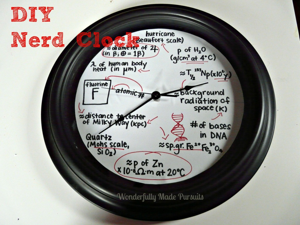 DIY Nerd Clock Wonderfully Made Pursuits