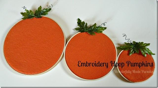 embroidery hoop pumkins