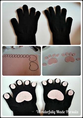 beanie cat paw collage
