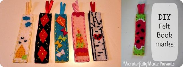 felt bookmark Collage