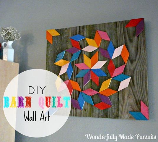 Diy Indoor Barn Quilt Wall Art Wonderfully Made Pursuits