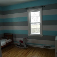 Baby Boy's Striped Nursery Update